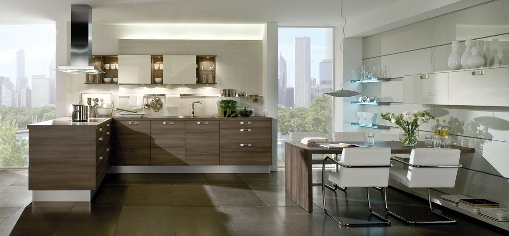 kuche mit integriertem essplatz interior design und m bel ideen. Black Bedroom Furniture Sets. Home Design Ideas